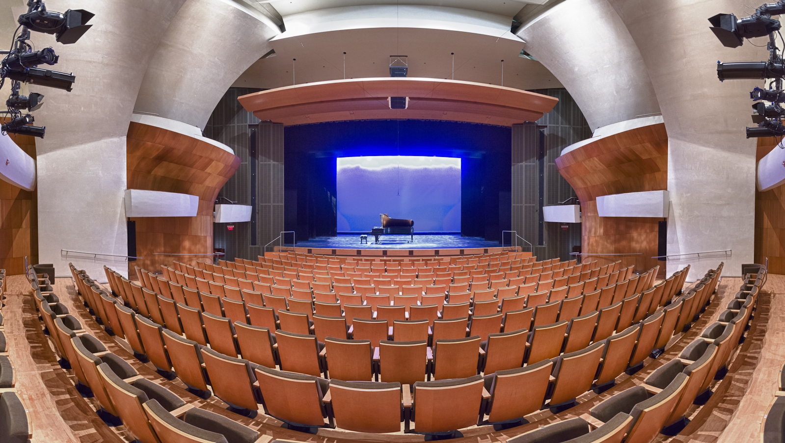 The Broad Stage Auditorium form the rear