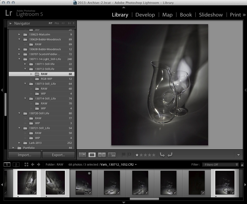 Selecting Files in Lightroom