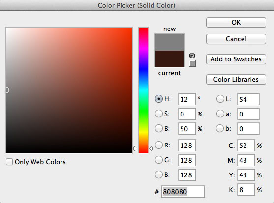 Gray color picker