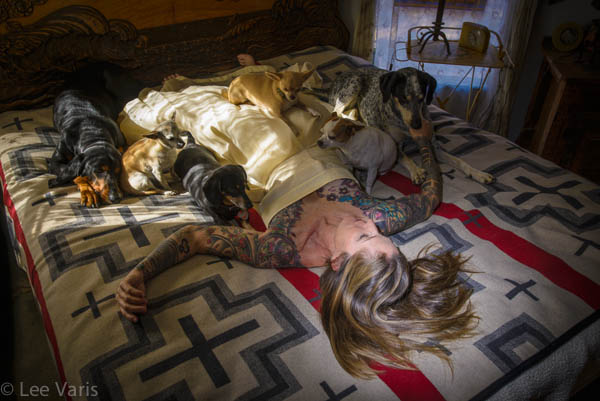 Karen with her dogs