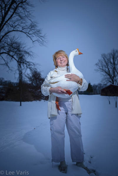 Theresa and her goose!