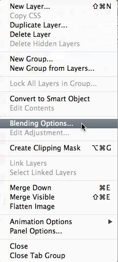 Blending Options