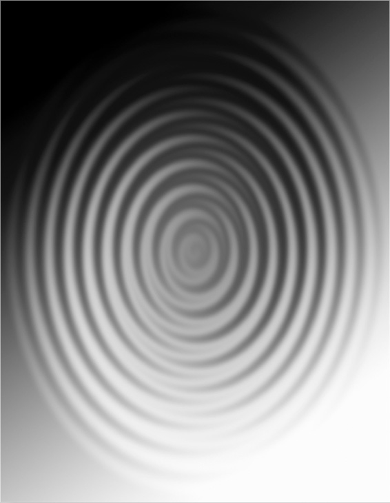 Zig-Zag filter applied to create the ripple effect