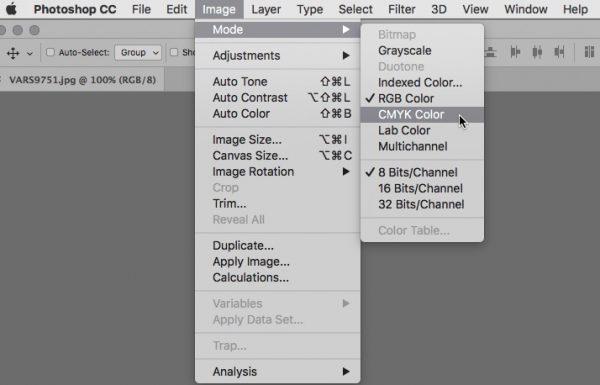 Mode-CMYK screenshot